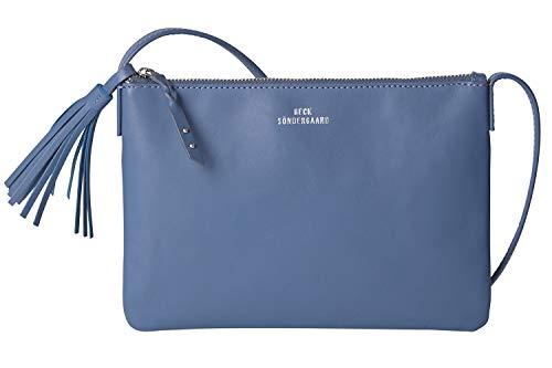 Becksöndergaard Handtasche Damen Lymbo Dusty Blue Umhängetasche Glattleder Verstellbarer Trageriemen Grau Blau 100% Kuhleder - 230001-71