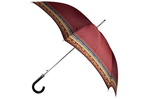 Versace Schirm Umbrella Ombrello Paraguas mit Bordüre, Blau