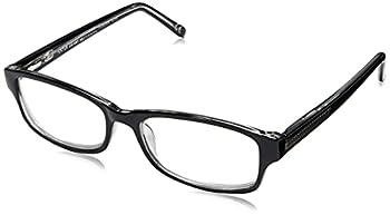 Foster Grant James Multifocus Reading Glasses Rectangular Black/Transparent 53 mm + 1.5