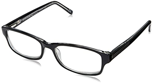 Foster Grant James Multifocus Reading Glasses Rectangular, Black/Transparent, 53 mm + 1.75