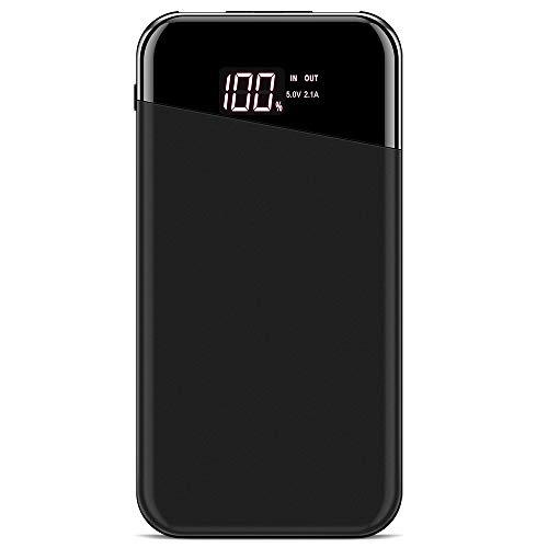 Forme Powerbank Extern Akku 10000 mah Power Bank Externer Handy Akkus I Tragbares Ladegerät I Hohe Kapazität LCD Smart Digitalanzeig I Batterie Pack I 2 USB Ausgang Gebühr