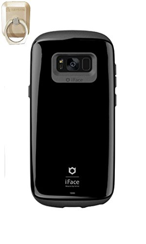 (アイフェイス)iFace Sensation Galaxy S8 Plus Caseケーススマートフォンケースギャラクシーs8 PlusケースRubystone CellPhone Ring、Finger Ring Holder (black) [並行輸入品]