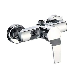 LIOOBO Grifería monomando para bañera y ducha grifos de baño para montaje en pared