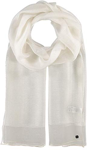 FRAAS Stola da donna tinta unita, 80 x 190 cm, bianco naturale