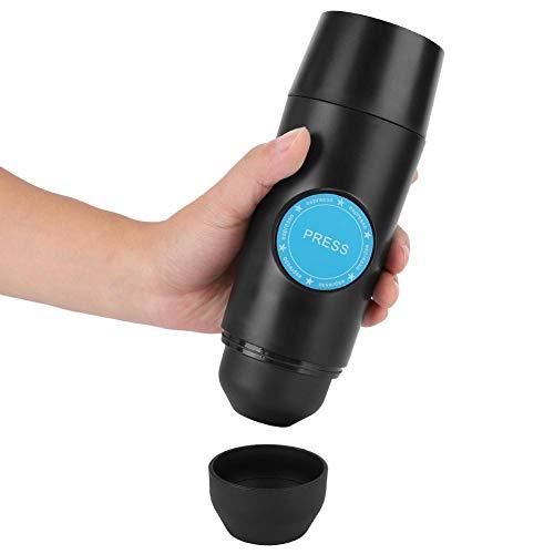 Máquina de café espresso portátil, mini cafetera eléctrica de mano automática, operación de un botón con cable de alimentación USB para acampar, viajes/oficina