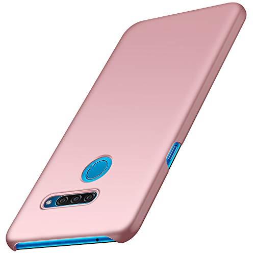 Funda LG Q60, Anccer Ultra Slim Anti-Rasguño y Resistente Huellas Dactilares Totalmente Protectora Caso de Duro Cover Case para LG Q60 (Oro Rosa Liso)