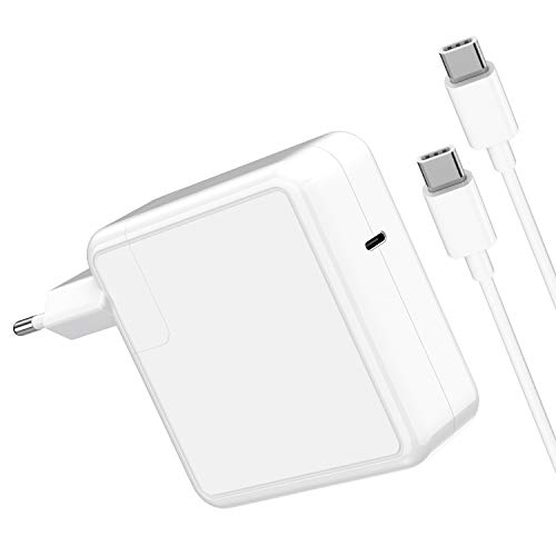 "SIMPFUN Mac Book pro caricatore Compatibile con USB C Caricatore, funziona con USB-C 87 W alimentatore per Mac Book Pro/Air 13"" 15"" 2016-2020 (Cable 2M/6.56ft)"