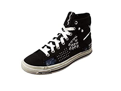 Diesel Damen Magnete Exposure IV W - snea Y00638 Hohe Sneaker, Schwarz (Black), 39 EU