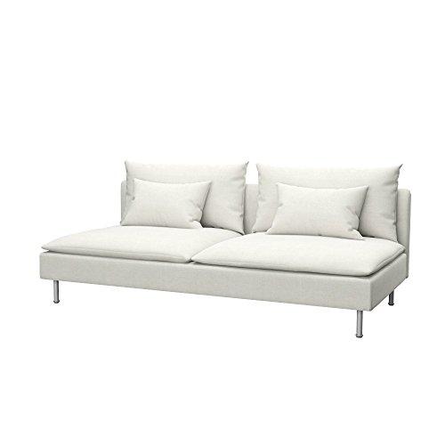 Soferia Funda de Repuesto para IKEA SÖDERHAMN sofá Cama, Tela Elegance Ecru, Off-White