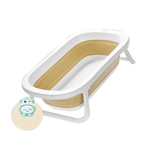 YONGJUN opvouwbare kinderbad, baby inklapbaar draagbaar douchecabine thuis, bad bad grote ruimte, 3 kleuren Geel