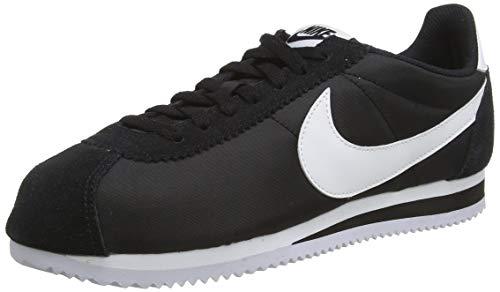 Nike Herren Classic Cortez Nylon Sneaker, Schwarz (Schwarz/Weiß), 46 EU