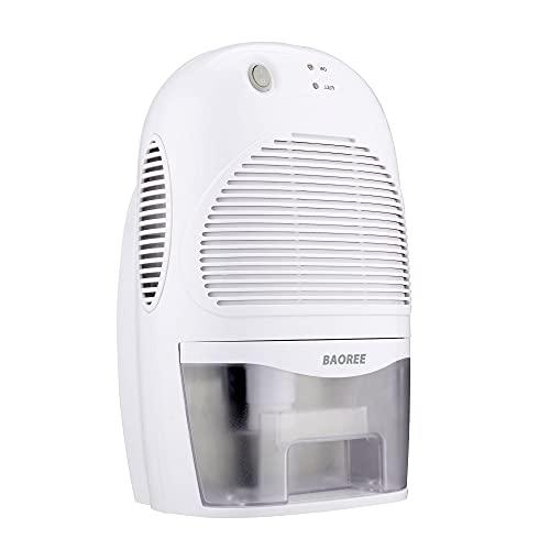 BAOREE Dehumidifier, Portable Air Dehumidifiers, Ultra Quiet Electric Dehumidifier for Home, Double Semiconductor (2500ml)