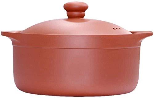 Pentole in terracotta Casseruola Casseruola piatti con coperchi - buona prestazione di conservazione del calore, maniglia antiscivolo, resistenza ad alta temperatura, 8L Mengheyuan (Size : 2.5L)