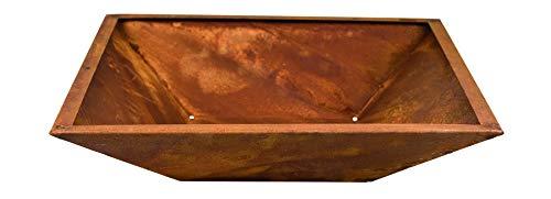 Dehner Pflanzschale mit Rand, ca. 40 x 40 x 10 cm, Metall, braun