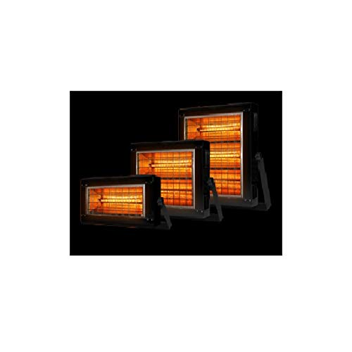 Review Stelpro 21.75 Black Infrared Radiant Heater Wide Reflector 6000 Watts