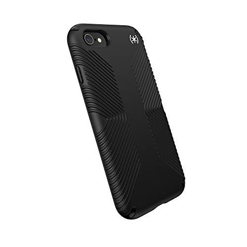 Speck Products Presidio2 Grip Case - Funda Compatible con iPhone SE (2020)/iPhone 8/iPhone 7, Color Negro/Negro/Blanco