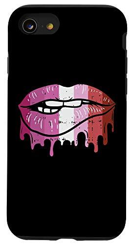 iPhone SE (2020) / 7 / 8 Lip Bite Lesbian Color Retro Dripping Art Flag Gay LGBT Gift Case