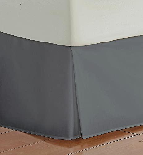 ELJZF Falda de Cama Falda de Cama a Medida Plisada de Estilo Europeo clásico, Altura de 35 cm, Ruffle de Polvo Cepillado, Color sólido, Calidad del Hotel Grueso y Duradero