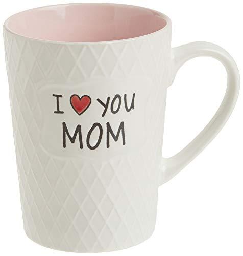 Ynsfree I Love You Mom Ceramic Mom Birthdays Gift Mug Mother