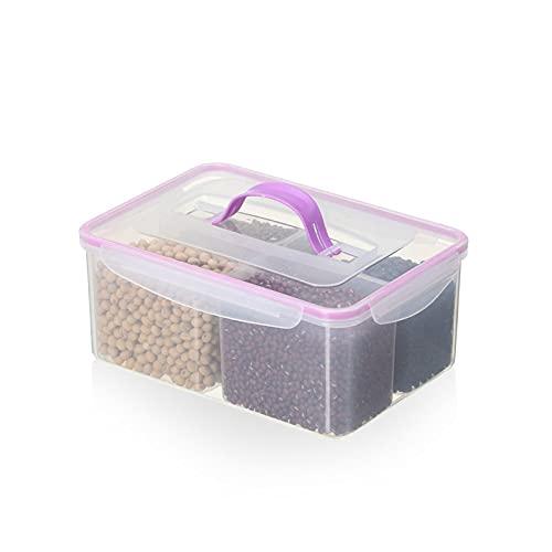 Fiambrera El recipiente de almacenamiento de alimentos de plástico, la cocina, con la tapa, puede contener frutas, verduras y otros ingredientes para mantenerse frescos
