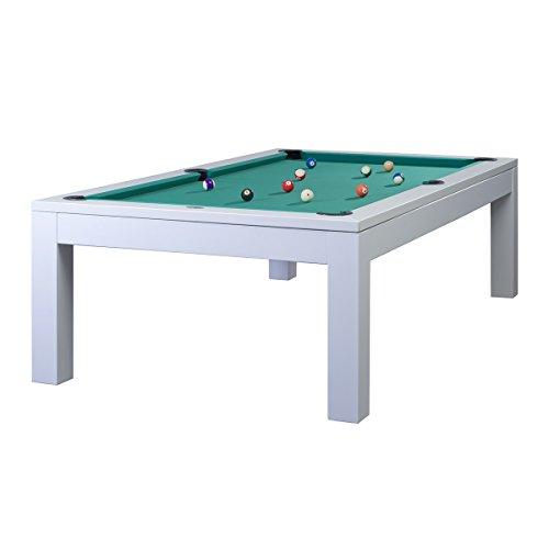 Tavolo da biliardo modello Olivia bianco, 7 m, colore: verde