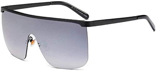 ZYIZEE Gafas de Sol Gafas de Sol Semi sin Montura para Mujer de Gran tamaño marrón Plateado con Espejo Gafas de Sol graduadas para Hombre Gafas Uv400