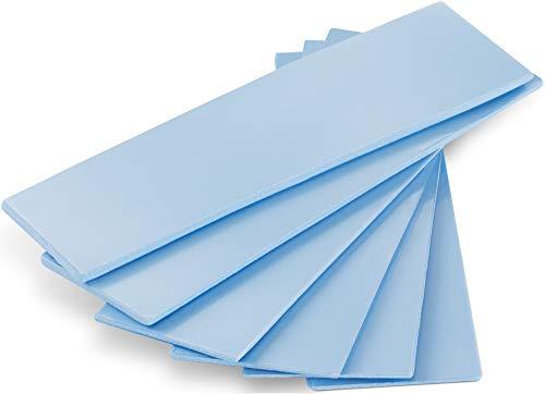 POPPSTAR 6X Wärmeleitpad für M.2 SSD (3 Stärken, je 2 Stück 0,5 mm / 1,0 mm / 1,5 mm) mit Wärmeleitfähigkeit 6 W/mk, Farbe blau