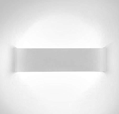 XIAJIA-12W LED Aplique Pared Interior,Moderna Apliques de Pared,Moda Agradable Luz de Ambiente,perfecto para Lámpara de Decoración para, Longitud 28.5cm,Blanco/Blanco frío