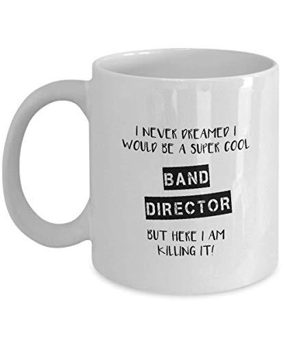Lawenp Regalo de director de banda - Taza de café novedosa de cerámica blanca de 11 oz - Taza de director de banda - Regalo de profesor de música - Regalo de agradecimiento de profesor de músi