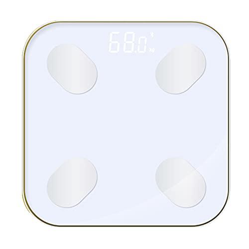 ZREYLLB Escala de Grasa Corporal Inalámbrica Digital Bluetooth Báscula Inteligente de Peso Corporal para Baño Analizador de Composición Corporal Aplicación Pérdida de Peso Regalo IMC Salud