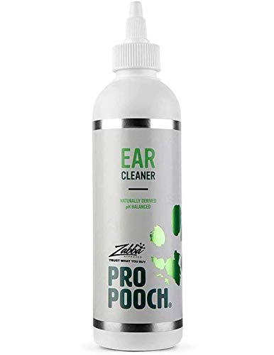 Pro Pooch Dog Ear Cleaner - Drops to Stop Head Shaking, Itchy & Waxy Ears - Vet Recommended, Naturally Derived, Non-Toxic Ear Cleaning Solution for Dogs - 250ml