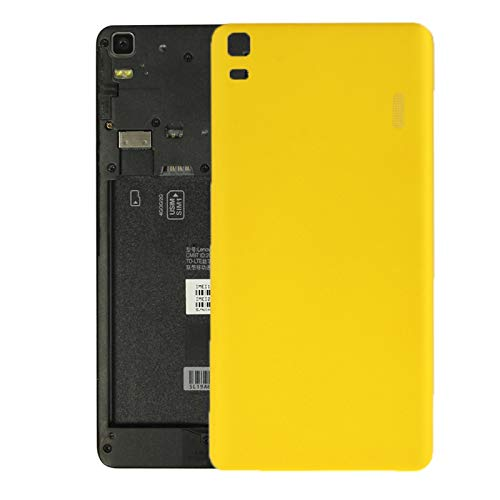 BEIJIN BACKBATTERYDOOR/For Lenovo K3 Note / K50-T5 / A7000 Turbo Battery Back Cover, Replacement for Rear Camera Glass Cover (Color : Yellow)