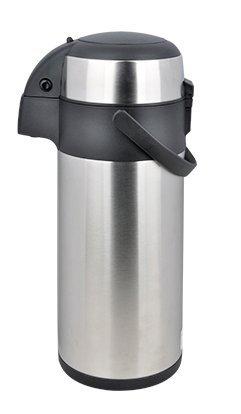 Mack Airpot - Botella isotérmica de acero inoxidable, 3 L, con mecanismo de bombeo, termo de 3 litros, acero inoxidable, 3 l