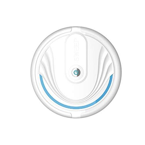 Roborock Saugroboter mit Kehr- und Wischfunktion und Steuerung über App, Saugleistung für dünne Teppiche, Tierhaare und alle Arten von Bodenbelägen (Weiß)