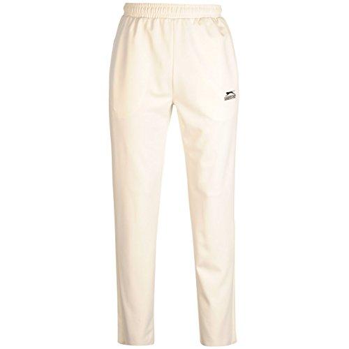 Slazenger Herren Cricket Hose Kordelzug Bestickt Logo Sporthose Taschen Weiss Extra LGE