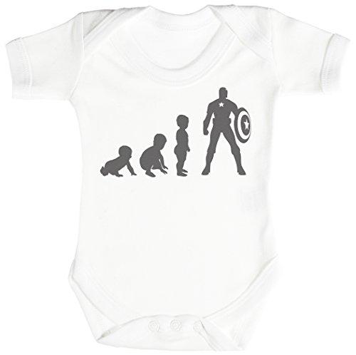 Baby Evolution to A Captain Baby Body bébé - Gilet bébé - Body bébé Ensemble-Cadeau - Naissance Blanc
