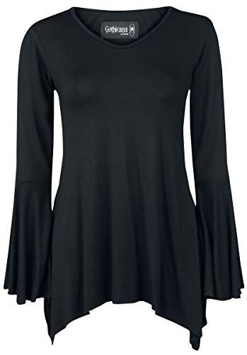 Gothicana by EMP Bat Country Mujer Camiseta Manga Larga Negro XXL, 95% Viscosa, 5% elastán, Regular
