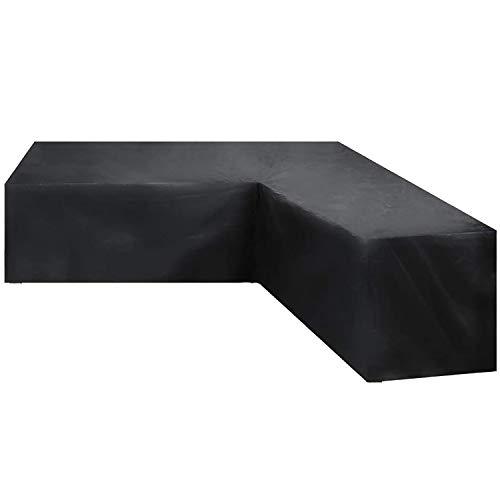 GEBIN Funda para Muebles De Jardín, Cubierta Impermeable En Forma De L/V para Sofá De Esquina, Cubiertas Antipolvo para Uso En Exteriores. (300x300x87x80cm)