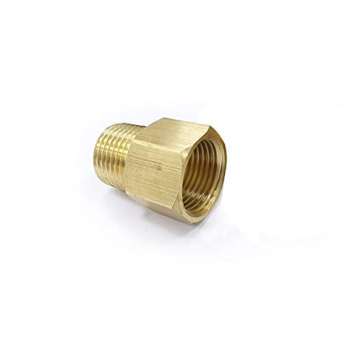 """Brass Pipe Fitting Adapter Female G1/2"""" Thread to Male NPT1/2"""" Thread Lead Free Pipe Fitting Reducer Thread Adapter,1/2 Inch NPT Male Pipe x 1/2 inch Female Pipe 1 Piece"""