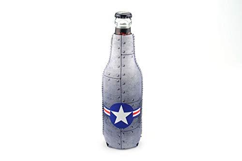 1023140 - neopreen flessenkoeler Air Force Rivets grijs