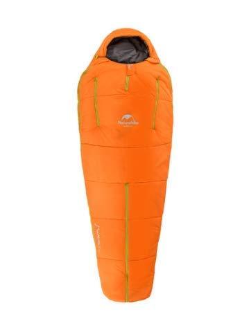 CATRP-Sac de couchage Humanoïde Camping en Plein Air Sac De Couchage en Coton Ultra-léger Et Chaud 4 Saisons (Color : Orange, Size : S)