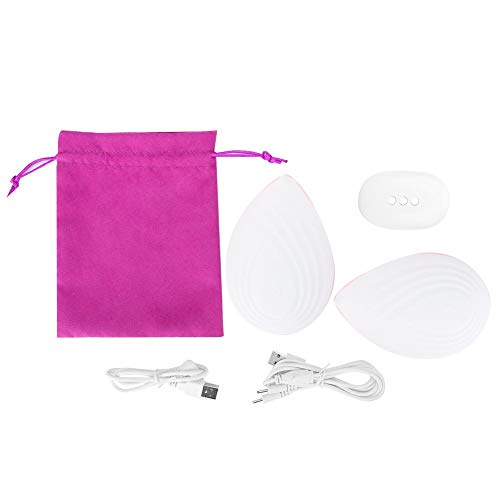 Qkiss USB Wireless Frau Brustmassagegerät Vergrößerung Heben Heizung Brustmassage Stimulator(Weiß)