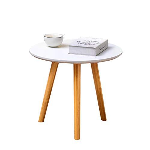 Creatieve Kleine Ovale Tafel, De Home Side Woonkamer Versierde Kleine Thee Tafel, Klein Appartement Nordic End Tafel Been 3 (Kleur: Wit, Maat : 50cm)