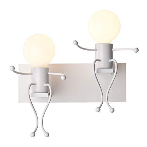 Raelf Mode Fer Forgé LED Tête De Lit Lampe Murale Moderne Minimaliste Chambre À Coucher Allée Escalier Couloir Support pour Enfant Lumière Créatrice Personnalité Aspiration Applique Murale Peinture Pr