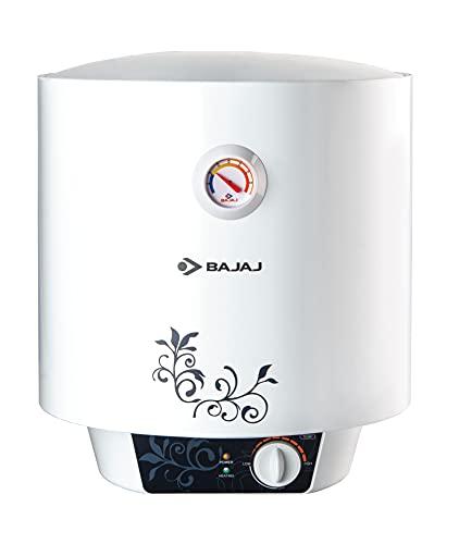 Bajaj New Shakti Storage 10 Litre Vertical Water Heater, White, 4 Star