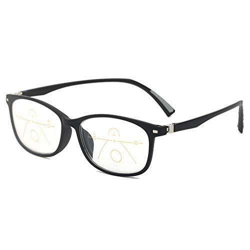 TCYLZ Progressive Multi-Focal, Photochromic Draagbare Multifunctionele Anti-Vermoeidheid Lezen Bril, Intelligent Multi-Focal, Ver En In de buurt Dual-Gebruik, Voor Vrouwen Mannen Auto Zoom Zonnebrillen