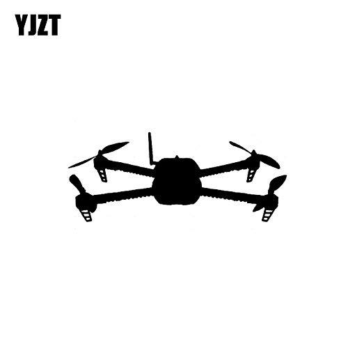 JYIP 12.2 CM * 5.2 CM Decalcomania del Vinile Autoadesivo dell'automobile Quadcopter UAV Drone 3D Robotics Nero/Argento C3-0167 Nero