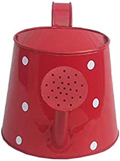 Railing Planter Impex Dotted 2 litres Metal planters Round Watering Can - Rust Free Home Decor Gifting, Garden, Gardening,...