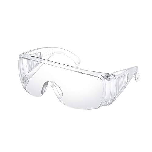 VIccoo Schutzbrille Persönliche Schutzausrüstung, PSA, Brillenschutz, klare, schlagfeste, belüftete Seiten, für Konstruktionen