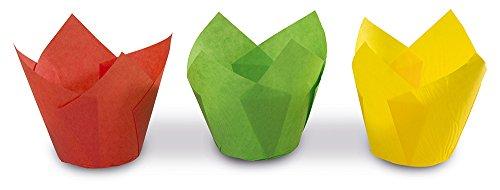 """Guardini Monouso, 12 pirottini """"tulipano"""" Ø7,5cm, carta da forno, Colori assortiti"""